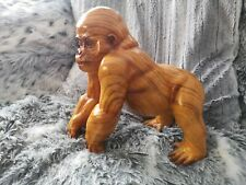 Ape / Monkey Ornament Resin Wood Effect