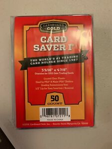 Cardboard Gold Card Saver 1 50 Count PSA Holders IN HAND READY TO SHIP