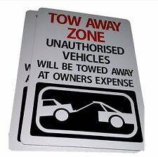 TOW AWAY ZONE NO PARKING SIGN X 4 signs
