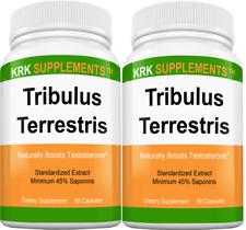 2 Tribulus Terrestris 1000mg per serving Minimum 45% Saponins Extract 90 Capsule