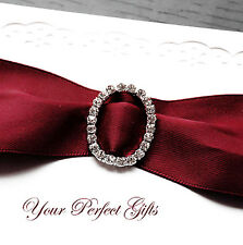 12 OVAL 1.1 Wedding Rhinestone Invitation Buckle Slider