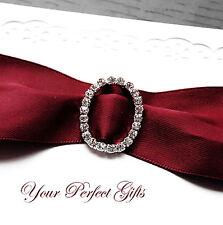 12 OVAL 1.1 Wedding Rhinestone Invitation Buckle Slider