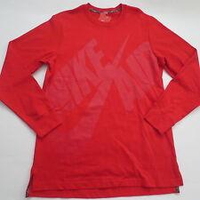 Nike Men Air Pivot Heavyweight Crew Sweater - 689400 - Red 657 - M - NWT