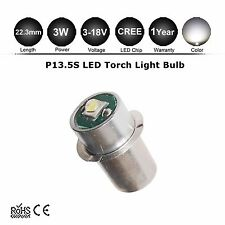 P13.5S 3W CREE MAGLITE LED UPGRADE FLASHLIGHT BULB 150LM 4 6 12 18V DC MAG LIGHT