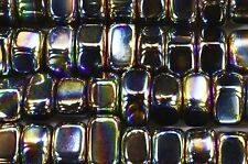 "Rainbow Magnetic Hematite 1/2"" Set of 2 Polished Tumbled Chakra Healing Crystal"