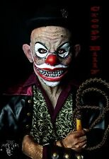 "Silicone Mask ""Creepy Clown Billy"" Hand Made, Halloween Quality Realist Scary"