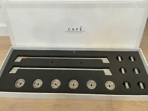 GE Cafe Range Handles and Knobs - Brushed Stainless Steel CXFCGHKPMSS