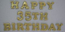 EDIBLE WORDS: HAPPY BIRTHDAY WITH NUMBERS - IN GOLD SHIMMER.... *AWESOME!!!*