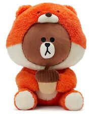 "[Line Friends] Munchy Squirrel Brown Bear Costume 25cm 10"" Plush Doll +Tracking"