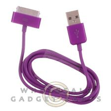 Apple iPhone 4/i4S Data Cable Purple Sync USB Charger Cord Transfer Connector
