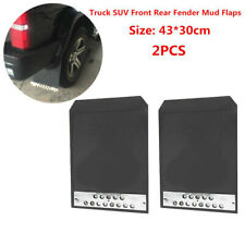 2x Car 43*30cm Basic Mounting Truck SUV Front Rear Fender Mud Flaps Black Rubber