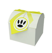 Yellow 4x4x3.75 Treasure Chest Box - Toy & Gift Box - Paper Box with Lid - Boxes