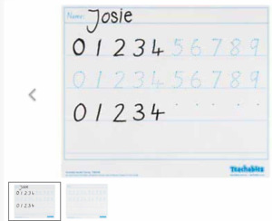 Teachables Whiteboard Number Tracing Pack of 10 Primary Teachers Resources
