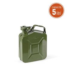 Tanica 5 litri metallo benzina carburante acciaio verniciato omologata norma UN
