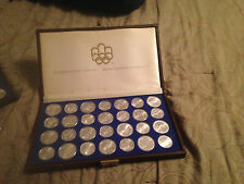 1976 Canada $5 & $10 Olympic BU Sterling Silver 28 Coin Set Collection