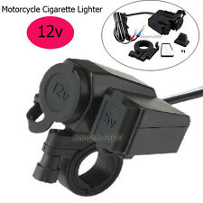 Waterproof USB Motorcycle Cell phone GPS Cigarette Lighter Charger for Harley