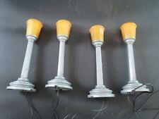 Lot -4 Vintage Lionel Lamp Posts
