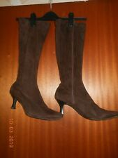 Ladies Long Brown Suede  Boots size 7
