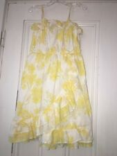 Baby Gap Yellow Ruffled Floral Maxi Dress Size 5t