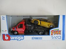 B Burago Miniature Tow Truck With Renault Megane Rs 1/43 In Box