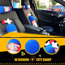 NOS Car Travel Headrest Seat Neck Rest Pillow Plush Decoration Cushion Gifts UK