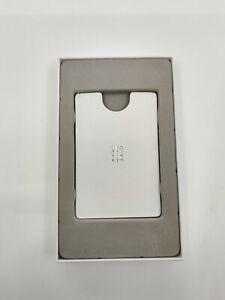 SWAROVSKI WHITE COLLECTION LEATHER CARD HOLDER CRYSTAL STEEL MONEY CLIP 5434790