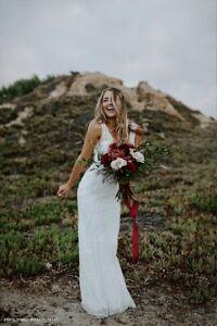 NEW ANTHROPOLOGIE BHLDN Sz 12 SORRENTO BEADED VINTAGE WEDDING DRESS GOWN
