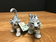 *SHIPS FREE* Wild Safari * SNOW LEOPARDS - FAMILY *  Mother Leopard & CUB baby