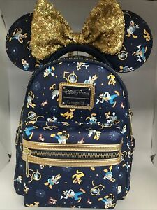 2021 Walt Disney World 50th Celebration Loungefly Backpack & Minnie Headband NWT