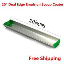 "20"" Dual Edge Emulsion Scoop Coater for Screen Printing"