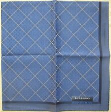 BURBERRY *Checks Blue Scarf Handkerchief 48cm /AKITAKN*11