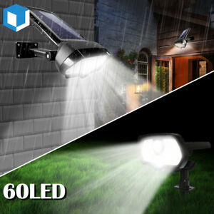 60 LED Solar Lights Outdoor Waterproof Landscape Spot Ground / Wall Lamp Pathway