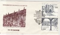 mexico 1981 colony monument buildings stamps cover ref 20291