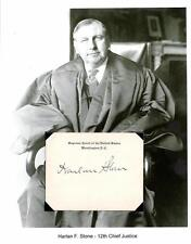 Harlan Stone Autograph Chief Justice Supreme Court Attorney General Amherst