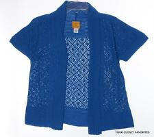 Ruby Rd. Women's size Small Cardigan Sweater Open Front Short Sleeved