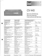 Dual Service Manual für CV 440