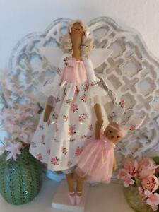 Sommer-Engel+Häschen Tilda Dekoration Puppe Shabby Chic Landhaus Vintage