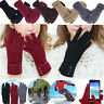 Womens Winter Fleece Lined Velvet Thermal Warm Gloves ski Touch Screen  Mittens