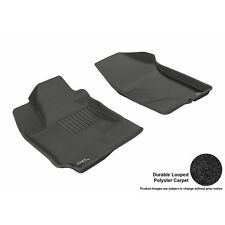 3D Maxpider For 2010-2013 Kia Forte 4/5Dr Classic Black Row 1 Floor Mats
