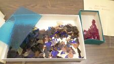 4lb Lot of Vintage Stained Glass Pieces, Glass Mosaic Pieces