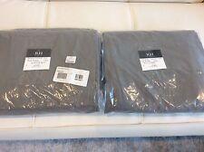 New TWO Restoration Hardware Belgian Textured Linen Fog Draperies Curtains $498