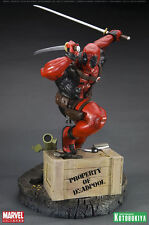 KOTOBUKIYA DEADPOOL FINE ART STATUE NEW RARE MARVEL X-MEN WOLVERINE NOT SIDESHOW