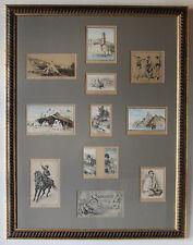 """""""SOUVENIR DE LA LEGION"""" Carnet 10 dessins + couverture encadré A.JEREMIAS 1897"""
