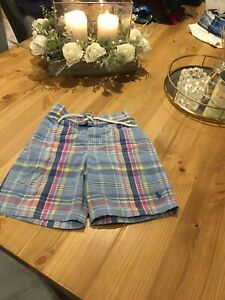Boys Ralph Lauren Size 5 Blue Check Swim Shorts
