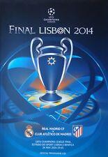Programm UEFA CL Final 2014 Real Madrid vs Atletico Madrid in Lisbon