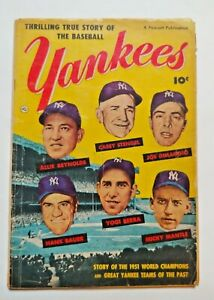 1952 New York Yankees Comic Book, Fawcett, Mickey Mantle, Joe Dimaggio, Yogi