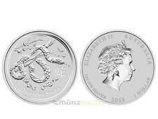 1 $ Dollar Lunar II Jahr der Schlange Snake Australien 2013 1 Unze oz Silber