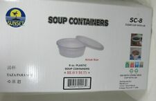 New listing 200 Clear Plastic 8 oz Deli Soup Containers & Lids Heavy Duty Microwave Safe