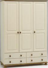 Steens Richmond Cream & Pine 3 Door 4 Drawer Triple Wardrobe