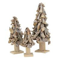 XL Baum Holz silber Glitter Deko Weihnachten Winter Landhaus Shabby